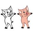 happy little piglet vector image