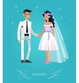 Happy wedding couple vector image