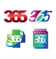 health calendar 365 infinity logo icon design vector image vector image
