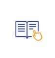 instruction book line icon education symbol vector image