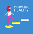 interactive reality connection vector image
