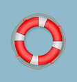 life buoy with rope vector image vector image