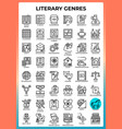 literary genres icons vector image vector image