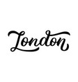 london - hand lettering vector image