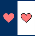 love instagram interface like icons flat and line vector image