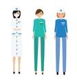 Medical women team Nurse paramedic doctor vector image vector image