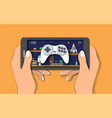 mobile games flat style design vector image vector image