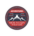 mountaineering adventures vintage isolated badge vector image vector image