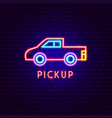 pickup neon label vector image