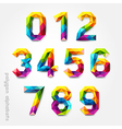 Polygon number alphabet colorful font style vector image vector image