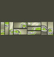 set golf banners vector image vector image