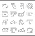 set money related line icons vector image