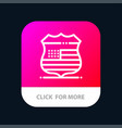 Shield sign usa security mobile app button