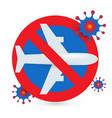 stop flights icon prohibition flights vector image