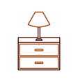 table lamp wooden drawers furniture for room vector image vector image