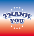 thank you banner on red and blue background vector image vector image