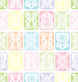Tile ornament soft vector image