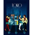 Tokyo Night Life Poster vector image vector image