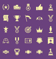 victory color icons on purple background vector image vector image