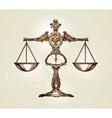 Vintage scales of justice Hand-drawn sketch vector image vector image