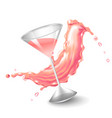 water splashes in pink colors around a transparent vector image