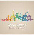 women silhouettes yoga poses vector image vector image