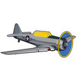 world war ii era training airplane vector image vector image