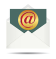 Red Email Sign On Gold Plate and Opened White vector image
