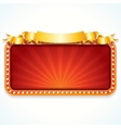 Theater Marquee Luxury Sign vector image