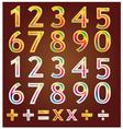 Gold number design vector image