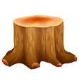 A stump of a big tree vector image vector image