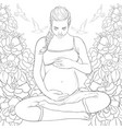 adult coloring bookpage a pregnant woman on the vector image vector image