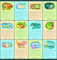 advertisement leaflets set discount promo posters vector image vector image