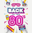 back to 80s colorful retro background vector image