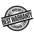 Best Warranty rubber stamp vector image vector image