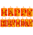 birthday candle as greeting vector image