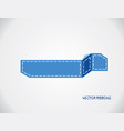 blue ribbon banner isolated on gray background vector image