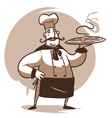 cartoon cook character vector image vector image