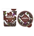 Chocolate Yogurt Packaging Design Template vector image vector image