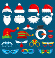 christmas holiday photo booth props vector image