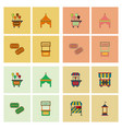 circus equipment icons vector image vector image