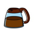 coffee maker cup vector image
