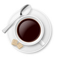 coffee with sugar on white background vector image