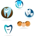 collection of dental clinic icons vector image vector image