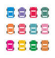colorful car icons vector image vector image