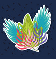 colorful plants design vector image vector image