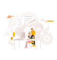 coworking communication vector image vector image