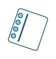 cute note sheet vector image vector image
