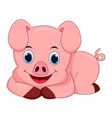 cute pig cartoon isolated on white background - ve vector image vector image