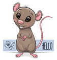 cute rat isolated on a white background vector image vector image
